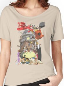 Studio Ghibli Characters Women's Relaxed Fit T-Shirt