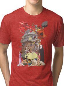 Studio Ghibli Characters Tri-blend T-Shirt