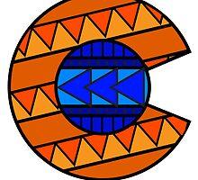 Tribal C Flag Broncos by missmarneyg