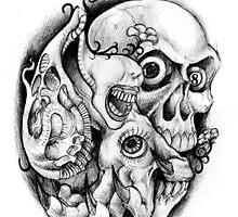Abstract Skull by beanarts