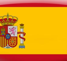 Spain Flag Glass Oval Die Cut Sticker Sticker