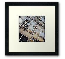 Decayed Glass Panes Framed Print