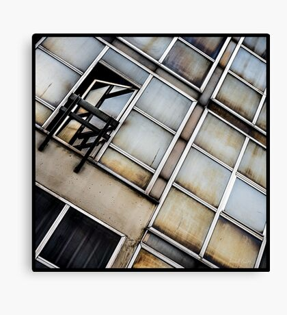 Decayed Glass Panes Canvas Print