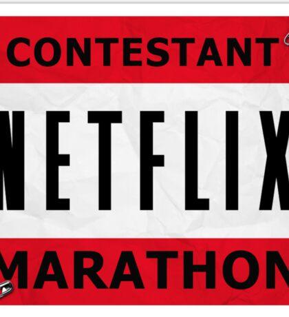 Netflix Marathon Sticker