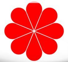 Taiwan Flag Glass Oval Die Cut Sticker Sticker