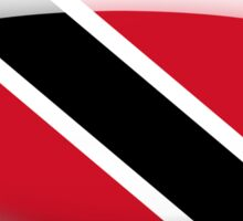 Trinidad And Tobago Flag Glass Oval Die Cut Sticker Sticker