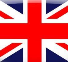 United Kingdom Flag Glass Oval Die Cut Sticker Sticker