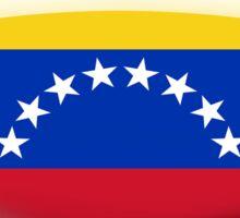 Venezuela Flag Glass Oval Die Cut Sticker Sticker