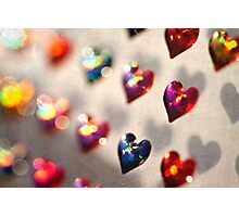 Stuck on Hearts Photographic Print
