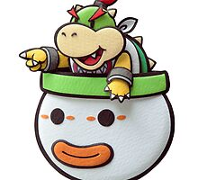 Bowser Jr. in his clown car! by Volc4no
