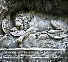 """Löwendenkmal"" Lion of Lucerne by Philip Kearney"