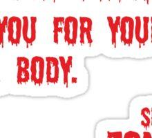 Zombie Letter Sticker