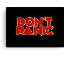 Dont Panic - The Hitchhiker's Guide to the Galaxy Canvas Print