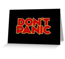 Dont Panic - The Hitchhiker's Guide to the Galaxy Greeting Card