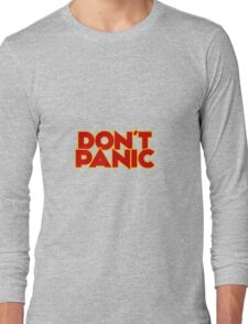 Dont Panic - The Hitchhiker's Guide to the Galaxy Long Sleeve T-Shirt