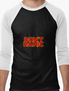 Dont Panic - The Hitchhiker's Guide to the Galaxy Men's Baseball ¾ T-Shirt