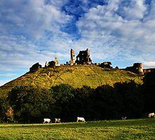 Corfe Castle by Samuel  Dodd