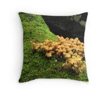 Fungi and moss Throw Pillow