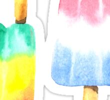 Watercolor Summer Popsicles Sticker