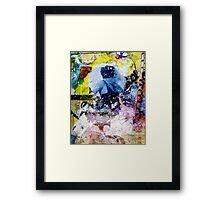 singing at the moon Framed Print