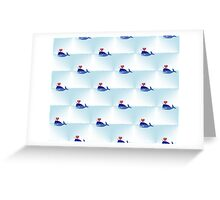 heart narwhal Greeting Card