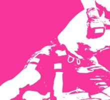 Brazilian Jiu Jitsu Knee On Belly Pink Sticker