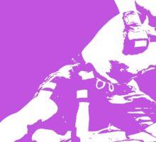 Brazilian Jiu Jitsu Knee On Belly Purple  Sticker