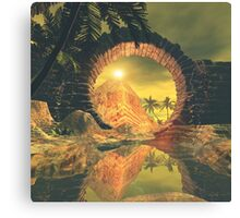 The way to the temple Canvas Print