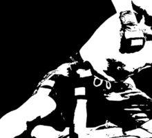 Brazilian Jiu Jitsu Knee On Belly Black Sticker