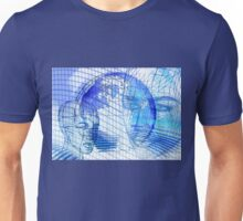 Blue Scape Head Wire  Unisex T-Shirt