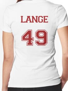 Lange Varsity Women's Fitted V-Neck T-Shirt