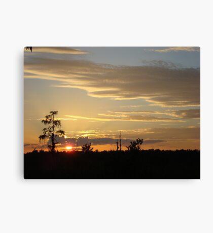 Beautiful October Sunset 2015 Canvas Print