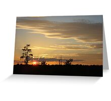 Beautiful October Sunset 2015 Greeting Card