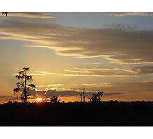 Beautiful October Sunset 2015 Photographic Print