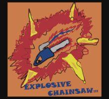 Explosive Chainsaw Logo T-Shirt by Daftpunkfan5cp