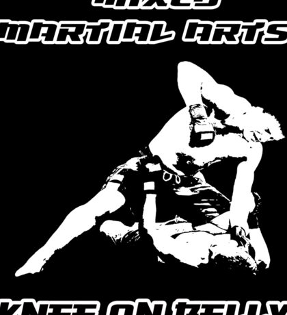 Mixed Martial Arts Knee On Belly Black  Sticker