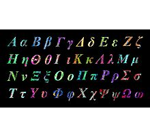 Greek Alphabet Black 1 Photographic Print