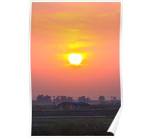 sunset at chong-ming village Poster
