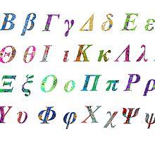 Greek Alphabet White 1 by joancaronil