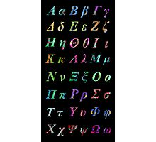 Greek Alphabet Black 2 Photographic Print