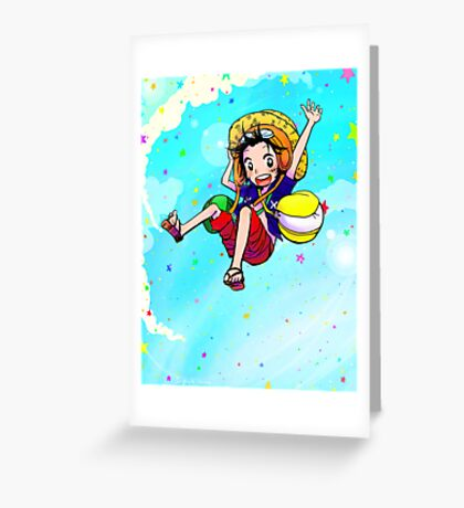 Luffy - Strong World Greeting Card