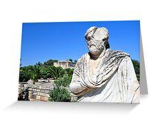 Greek statue. Greeting Card