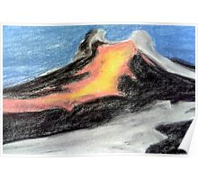 Lava down the Side of the Mountain Poster
