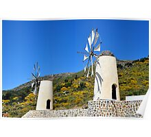 Windmills.  Poster