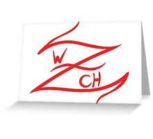 Z logo regular Greeting Card