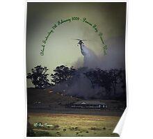 Erickson Sky-Crane fighting bushfire near Drouin Poster