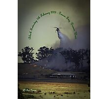 Erickson Sky-Crane fighting bushfire near Drouin Photographic Print