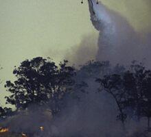 Erickson Sky-Crane fighting bushfire near Drouin Sticker