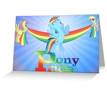 Pony Pride Poster Greeting Card