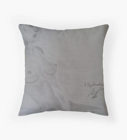 Angelina Jolie nude drawing Throw Pillow